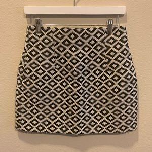 High Waisted Zara Mini Skirt